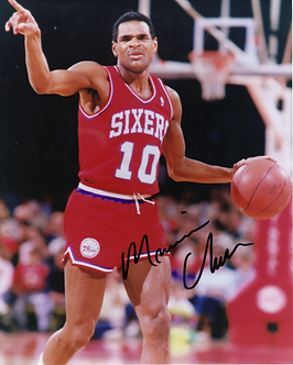 Maurice Mo Cheeks signed 1983 Philadelphia 76ers dribbling 8x10 photo Sixers