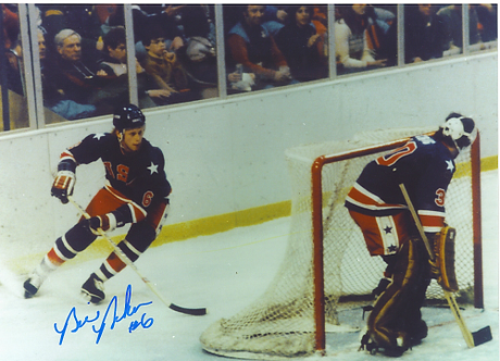 Bill Baker signed 1980 USA Miracle on Ice Olympic Ice Hockey 8x10 #2 Jim Craig