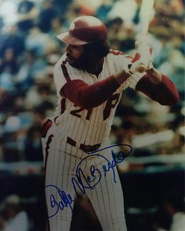 Bake McBride 1980 Philadelphia Phillies signed color 8x10 photo #2