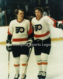 Bob Clarke Bill Barber Philadelphia Flyers Broad Street Bullies 8x10 photo