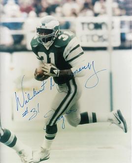 Wilbert Montgomery Philadelphia Eagles All Pro signed 8x10 super Bowl XV