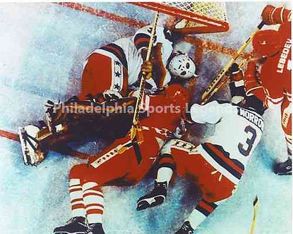 Jim Craig 1980 Olympic Hockey Miracle On Ice unsigned save photo #6