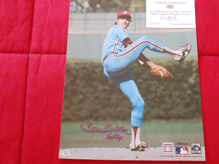 Steve Carlton Philadelphia Phillies autographed 11x14 photo Hall of Fame 94