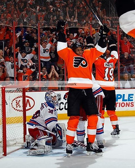 Wayne Simmons Philadelphia Flyers goal photo vs Rangers 2