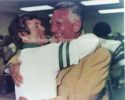 Dick Vermeil Leonard Tose Philadelphia Eagles 1980 NFC Champions 8x10 photo