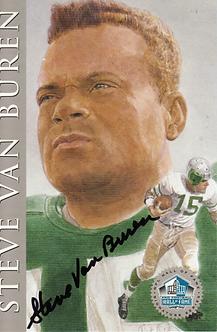 Steve Van Buren autographed Hall of Fame Ron Mix card Philadelphia Eagles