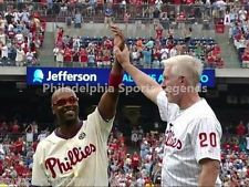 PHILLIES MIKE SCHMIDT JIMMY ROLLINS ALL TIME HITS LEADER 8X10 #2