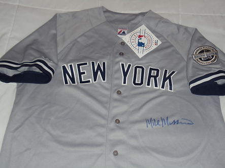 Mike Mussina New York Yankees autographed away jersey