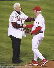 DALLAS GREEN 1980 PHILLIES WORLD SERIES SIGNED 8X10 CHARLIE MANUEL 2008