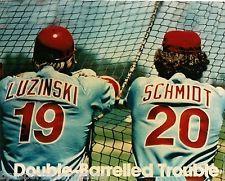 MIKE SCHMIDT GREG LUZINSKI DOUBLE TROUBLE PHILLIES 1980 WORLD SERIES 8X10