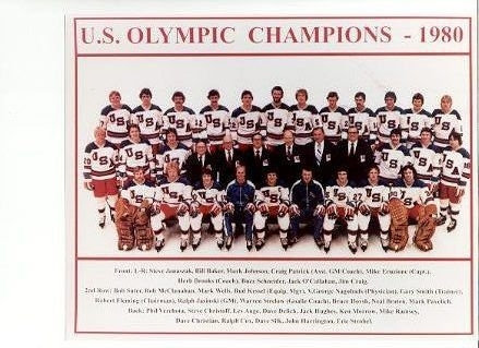 1980 Olympic Ice Hockey Miracle on Ice team photo Do You Believe?