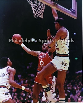 Julius Dr. J Erving 76ers Kareem Abdul Jabbar Lakers All Star Game 8x10