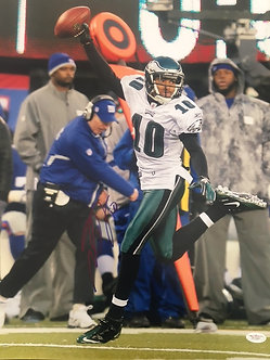 DESEAN JACKSON EAGLES SIGNED MIRACLE AT THE MEADOWLANDS 16X20