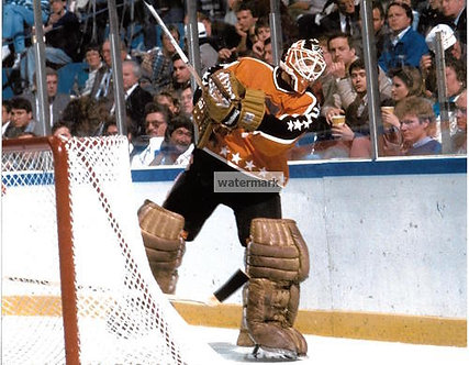 RON HEXTALL FLYERS ALL STAR GAME PHOTO PUCK CLEAR