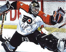 RON HEXTALL PHILADELPHIA FLYERS SIGNED 8X10 ACTION PHOTO #4 W@W
