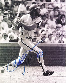 Bake McBride 1980 Philadelphia Phillies signed color 8x10 photo