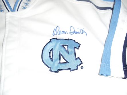 Dean Smith North Carolina Tar heels autographed NIKE warm up jersey