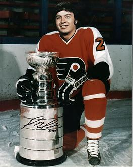 "Reggie Leach ""the Rifle"" autographed Philadelphia Flyers Stanley Cup 8x10 photo"