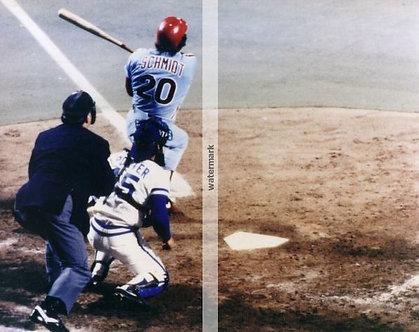 MIKE SCHMIDT 1980 PHILADELPHIA PHILLIES WORLD SERIES HOME RUN 8X10 PHOTO