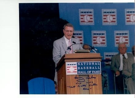 "Harry Kalas Phillies signed Hall of Fame induction 8x10 ""That Ball's Outta Here"""