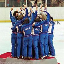 1980 OLYMPIC HOCKEY MIRACLE ON ICE GOLD MEDAL PODIUM PHOTO ERUZIONE CRAIG 2