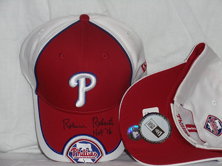 Robin Roberts Philadelphia Phillies autographed new hat Hall of Fame 76