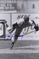 JIM BUNNING PHILADELPHIA PHILLIES AUTOGRAPHED 8X10 ACTION PHOTO HALL OF FAME