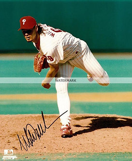 "MITCH WILLIAMS ""WILD THING"" SIGNED 1993 PHILLIES 8X10"