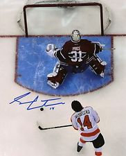 SEAN COUTURIER SIGNED PHILADELPHIA FLYERS ROOKIE SKILLS COMPETITION 8X10