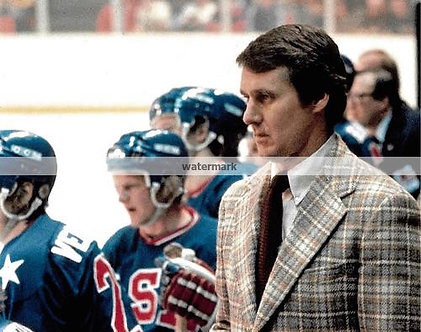 HERB BROOKS 1980 USA MIRACLE ON ICE COLOR PHOTO