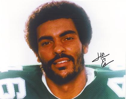 Herm Edwards Philadelphia Eagles ESPN autographed color 8x10 close up photo