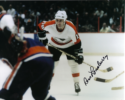Ross Lonsberry (DEC) autographed Philadelphia Flyers vintage action 8x10