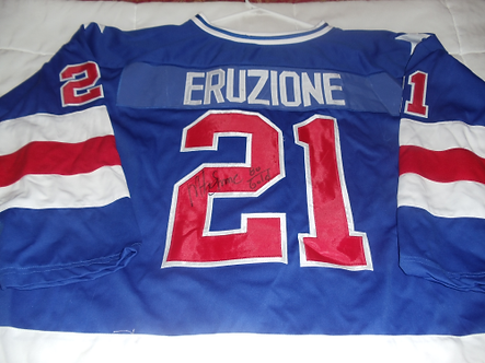 Mike Eruzione USA Miracle on Ice 1890 Olympic hockey signed jersey