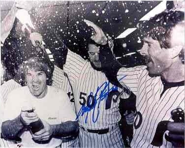 Marty Bystrom signed 1980 Phillies World Series Celebration Schmidt Rose 8x10