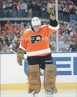 Bernie Parent Philadelphia Flyers Winter Classic Farewell 8x10 #2 Hall of Fame