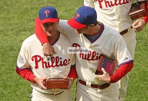 Jamie Moyer Brad Lidge 2008 Phillies World Series Ring photo