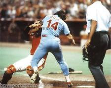 PETE ROSE PHILADELPHIA PHILLIES 1980 NLCS HOME PLATE COLLISION #1