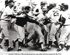 JOHNNY CALLISON PHILADELPHIA PHILLIES 1964 ALL STAR GAME WINNING HOME RUN 8X10