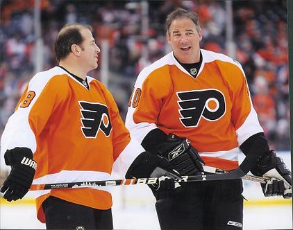 John LeClair Mark Recchi Philadelphia Flyers 2011 Winter Classic Alumni 8x10