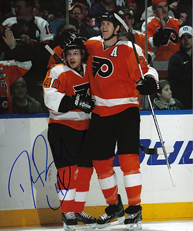Danny Briere Philadelphia Flyers autographed 8x10 photo w/ Chris Pronger