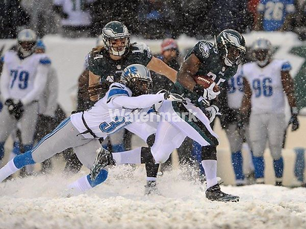 LESEAN MCCOY EAGLES SNOW PHOTO #7