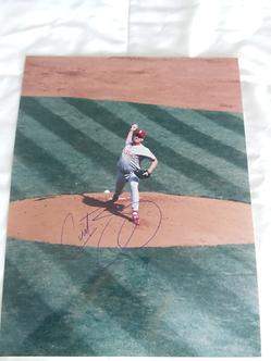 Curt Schilling Philadelphia Phillies autographed action 11x14 photo