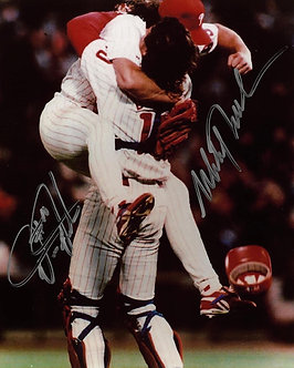 MITCH WILLIAMS DARREN DAULTON 1993 PHILLIES DUAL SIGNED 8X10