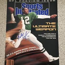 RANDALL CUNNINGHAM EAGLES SIGNED 11X14 SPORTS ILLUSTRATED ULTIMATE WEAPON