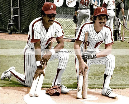 LARRY BOWA DAVE CASH PHILADELPHIA PHILLIES 8X10 CLASSIC