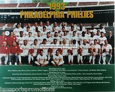 1993 PHILADELPHIA PHILLIES TEAM PHOTO NL CHAMPS DAULTON DYKSTRA KRUK