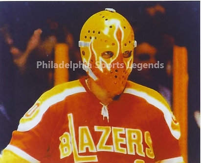 Bernie Parent Philadelphia Blazers rare 8x10 photo Flyers