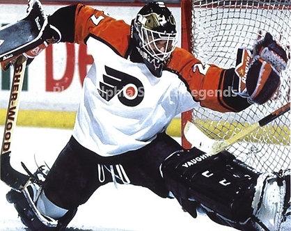 Ron Hextall Philadelphia Flyers glove save 8x10 photo #2