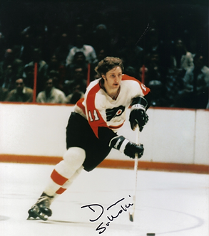 "Don ""The Bird"" Saleski Philadelphia Flyers autographed vintage action 8x10 photo"