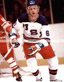 BILL BAKER USA MIRACLE ON ICE GOLD MEDAL COLOR PHOTO